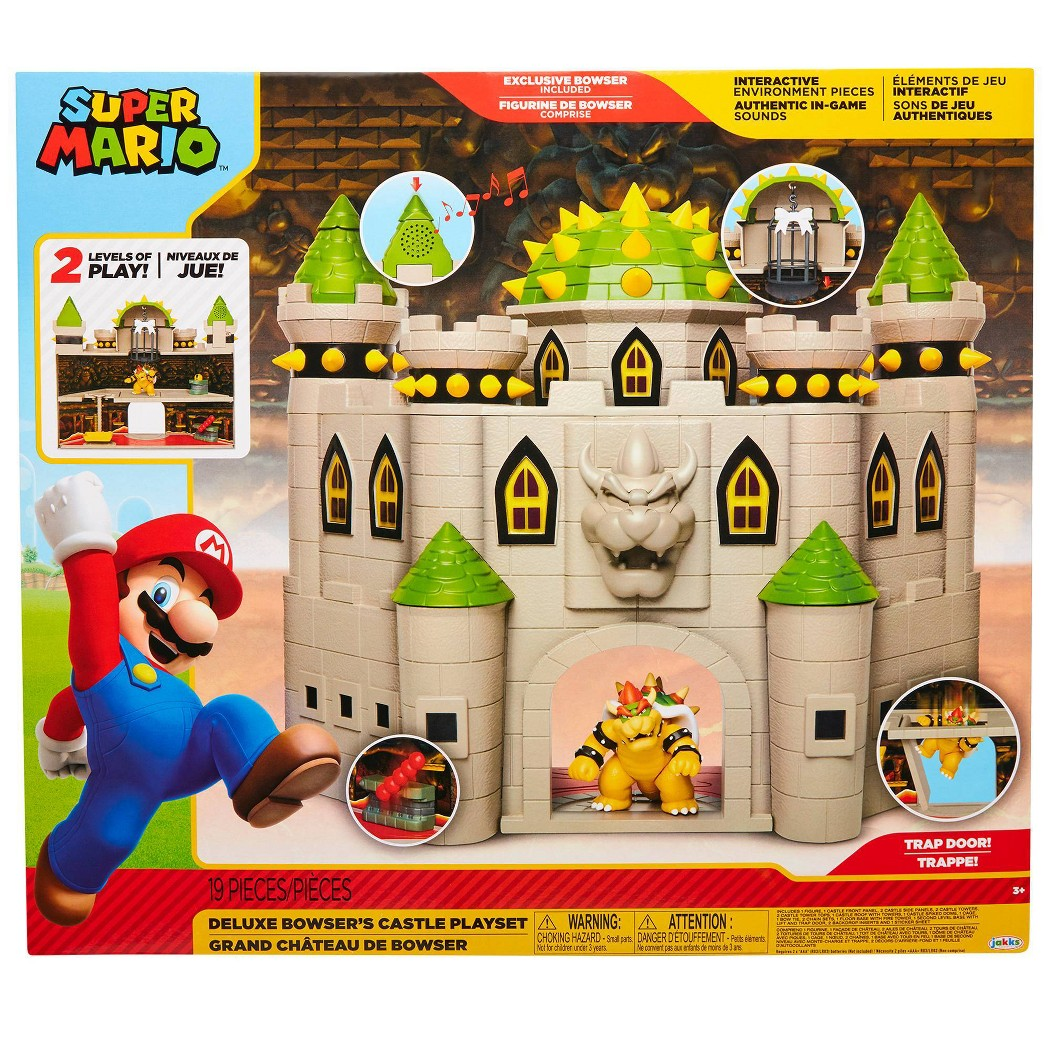 Details About Nintendo Super Mario Bowser Castle With 2 5 Bowser Figure Kid Toy Gift