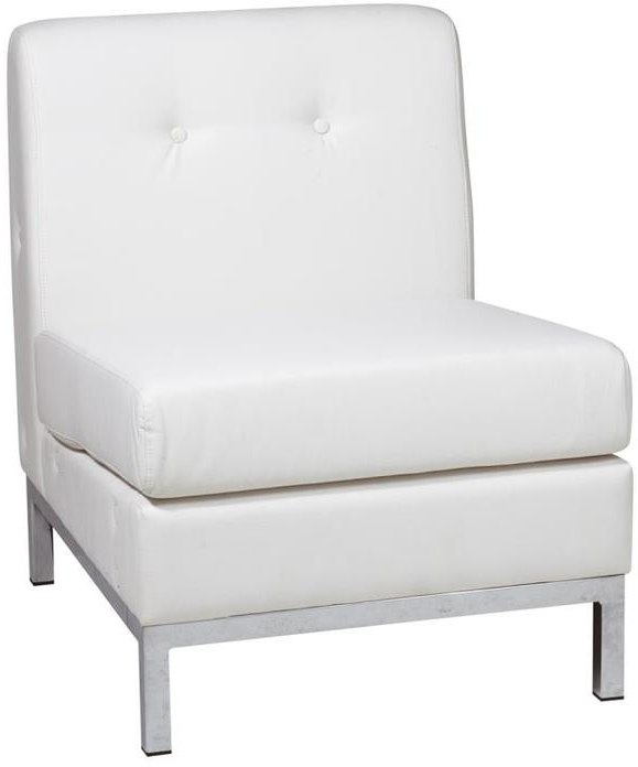 Marvelous Details About Osp Home Furnishings Avenue Six Modern White Faux Leather Accent Chair Machost Co Dining Chair Design Ideas Machostcouk