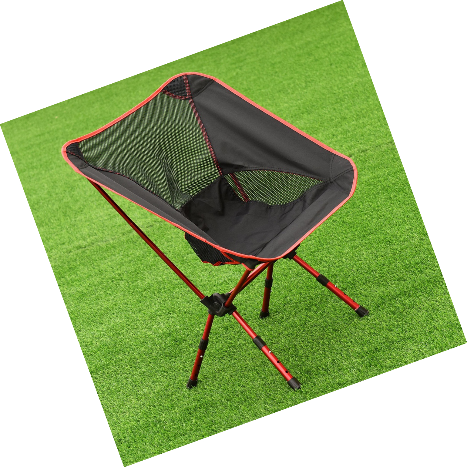 Details About Camping Chair Folding Beach Chairs Collapsible Lightweight Portable Red Foldable