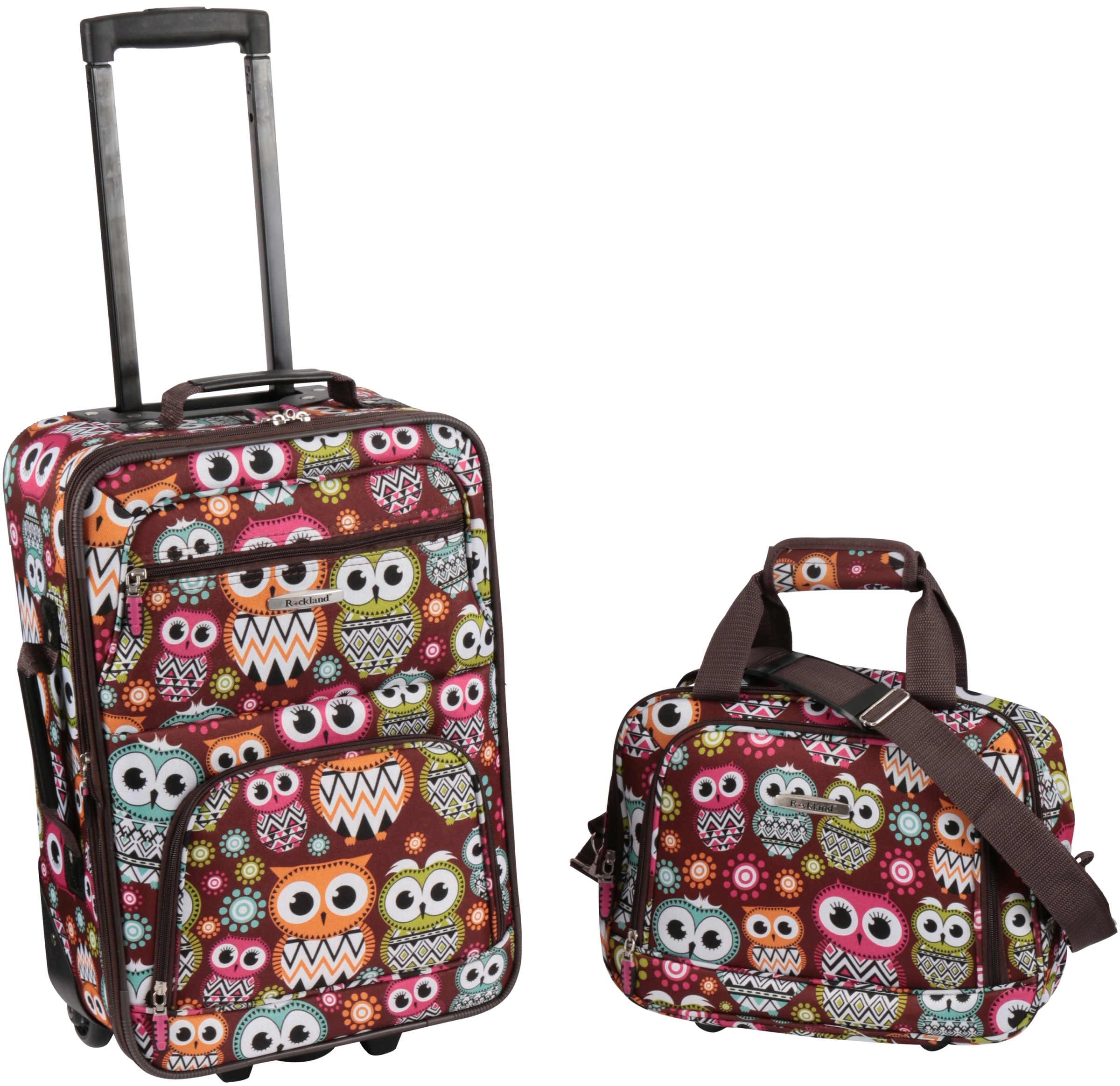 Details About Owl Suitcase For S Cute Luggage Women Travel Bag Kids Gift Set Of 2