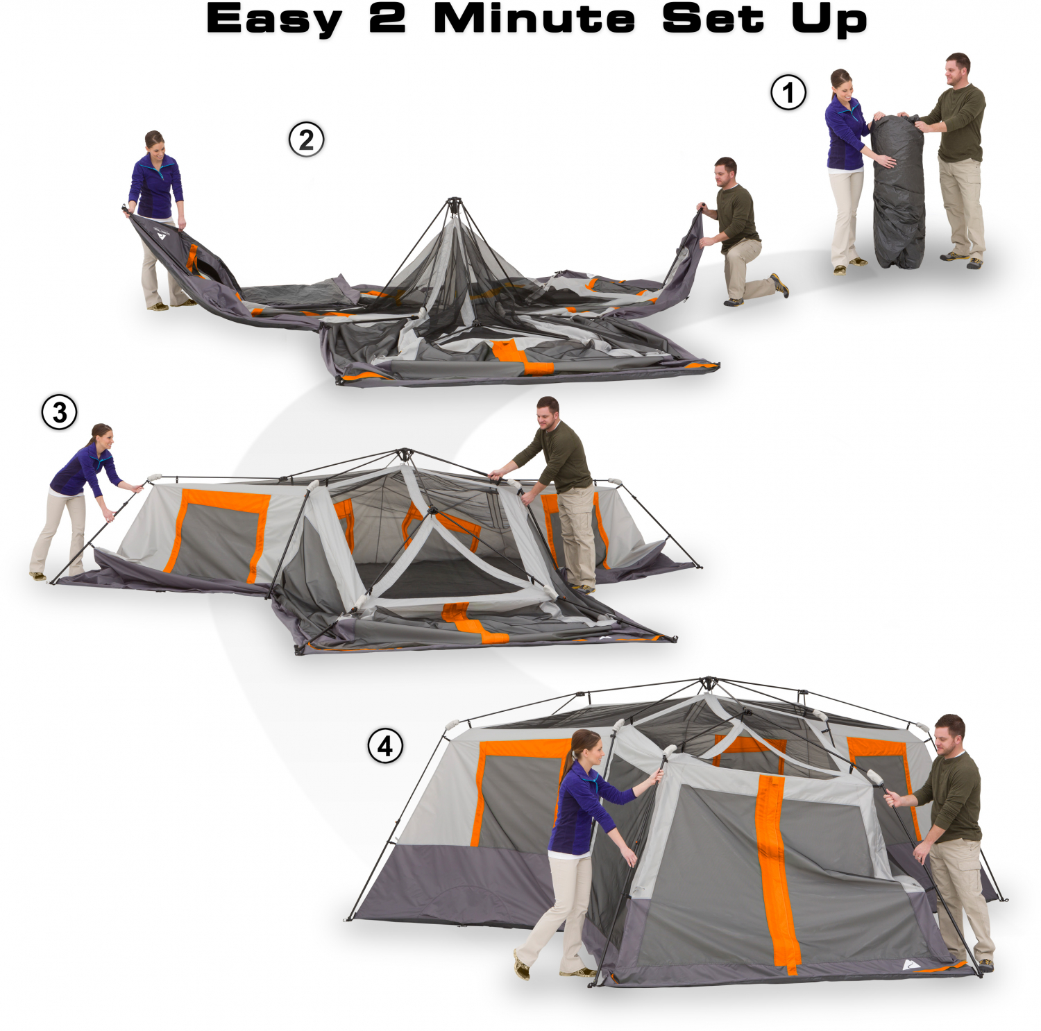 12 Person Instant Cabin 20 X 18 Tent 3-Room Camping