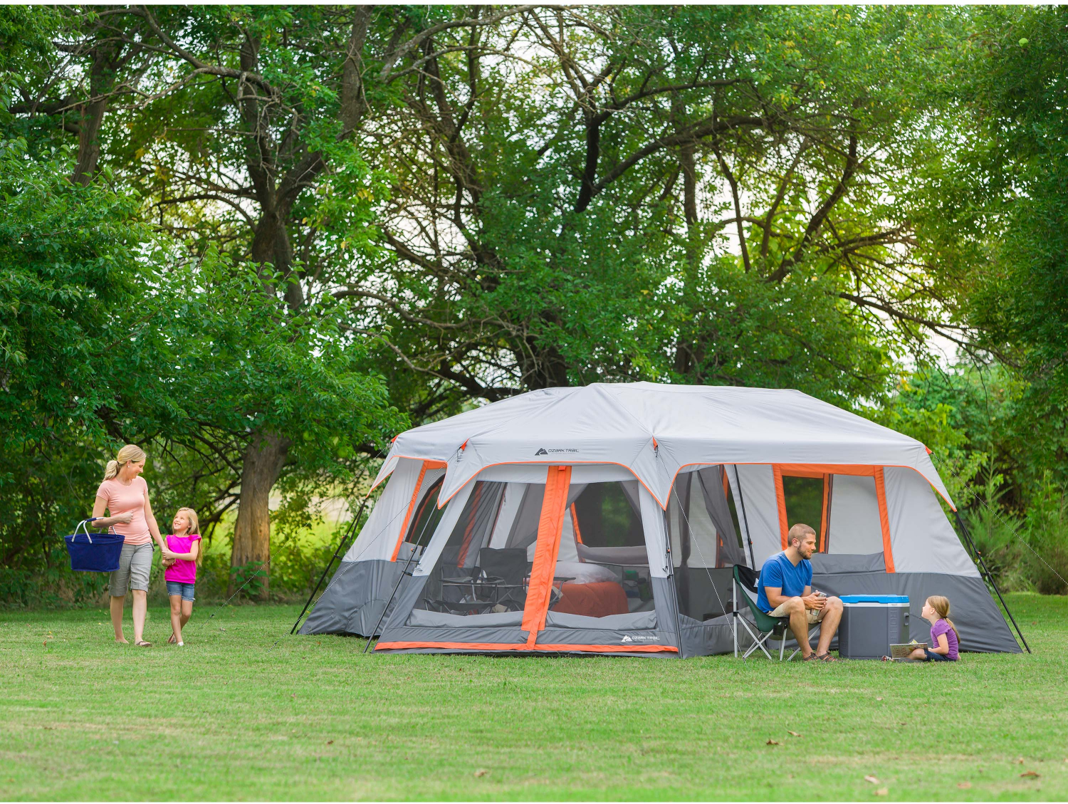 12 Person Instant Cabin 20 X 18 Tent 3 Room Camping