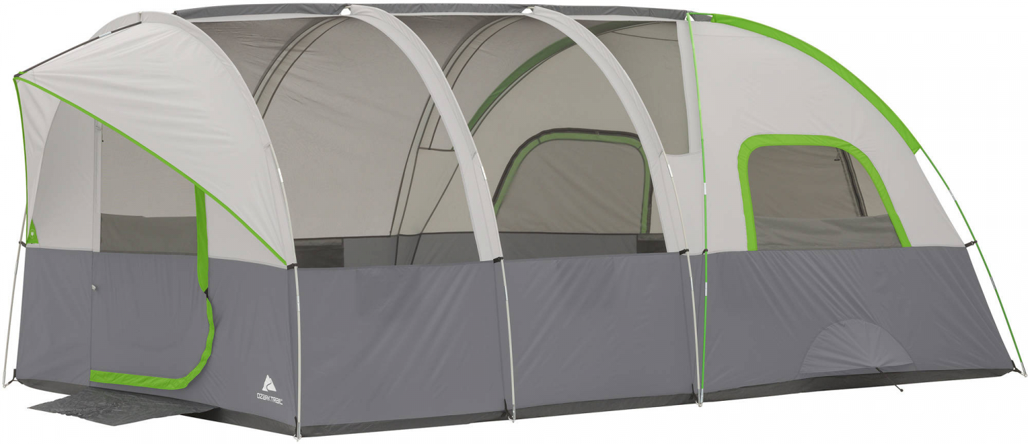 Details about Ozark Trail Large Tents Modified Dome Tunnel Tent Sleeps 8  Person 16 x 8 Camping