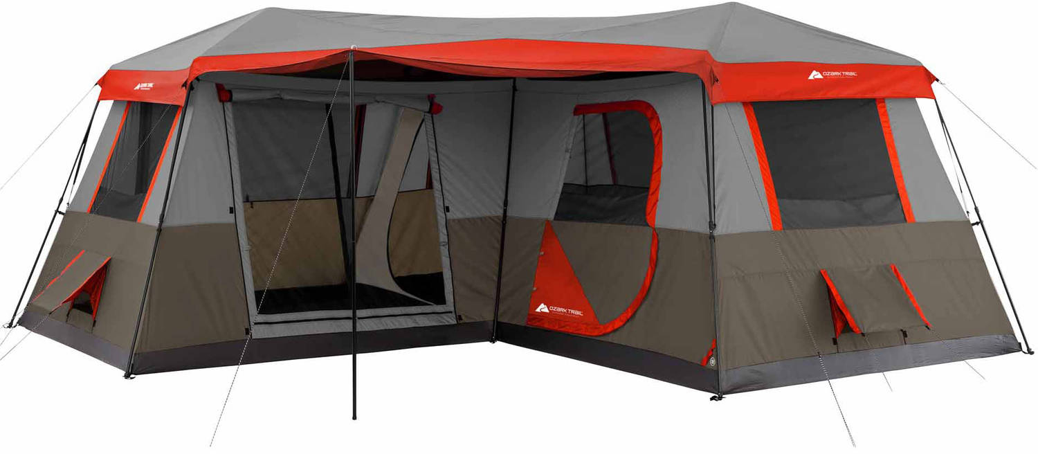 Details about 12 Person 16x16 Instant Cabin Tent 3 Room Outdoor Camping Picnic Canopy Shelter