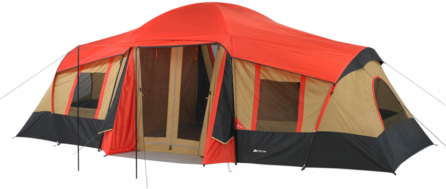 69124fd3b7 Details about Ozark Trail 3 Room Cabin Tent 10 Person 20x11 Large Camping  Hunting Outdoor