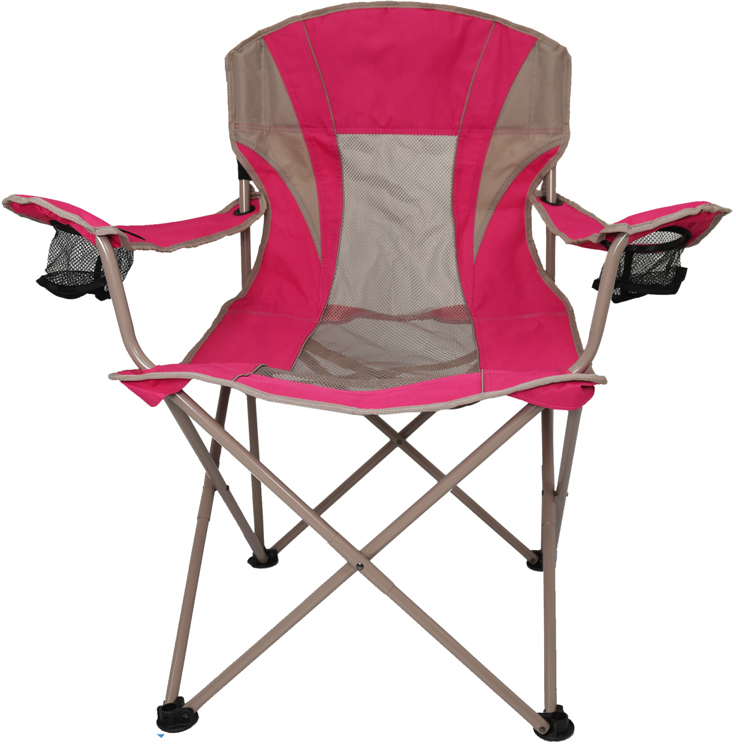Details About Oversize Mesh Folding Camping Chair Ozark Trail Seat Cup Holder Heavy Duty New