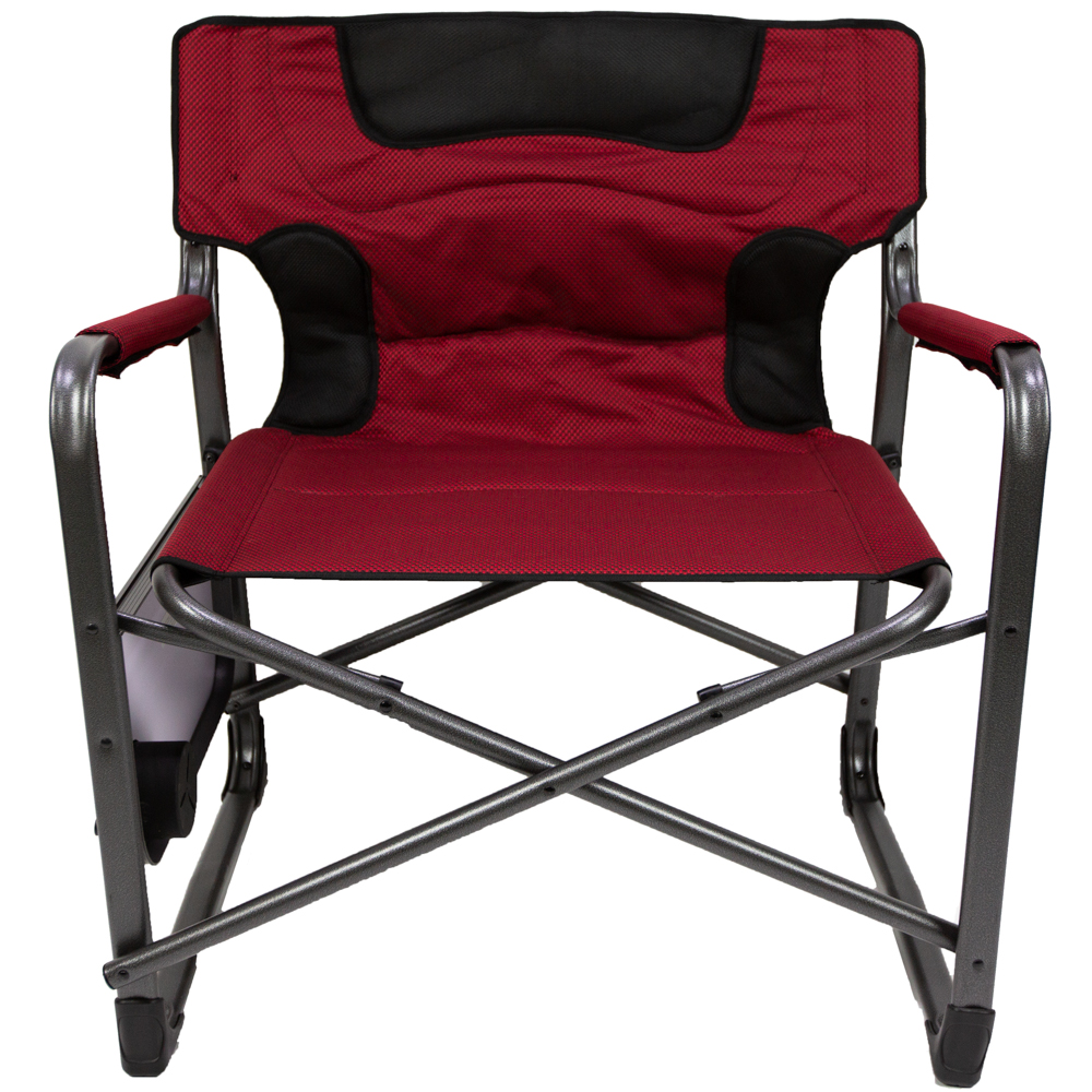 Folding Directors Chair With Side Table.Details About Ozark Trail Xxl Folding Padded Director Chair With Side Table Red