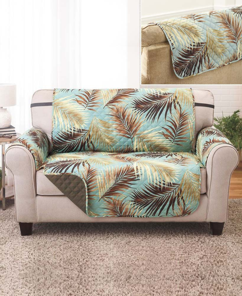 Brilliant Details About Palm Or Paw Print Furniture Chair Loveseat Sofa Covers Reversible Design Pattern Andrewgaddart Wooden Chair Designs For Living Room Andrewgaddartcom