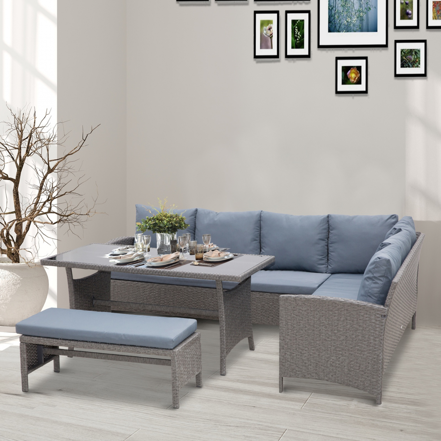 Patio Furniture Sets Clearance Dining Table Sofa Bench ...