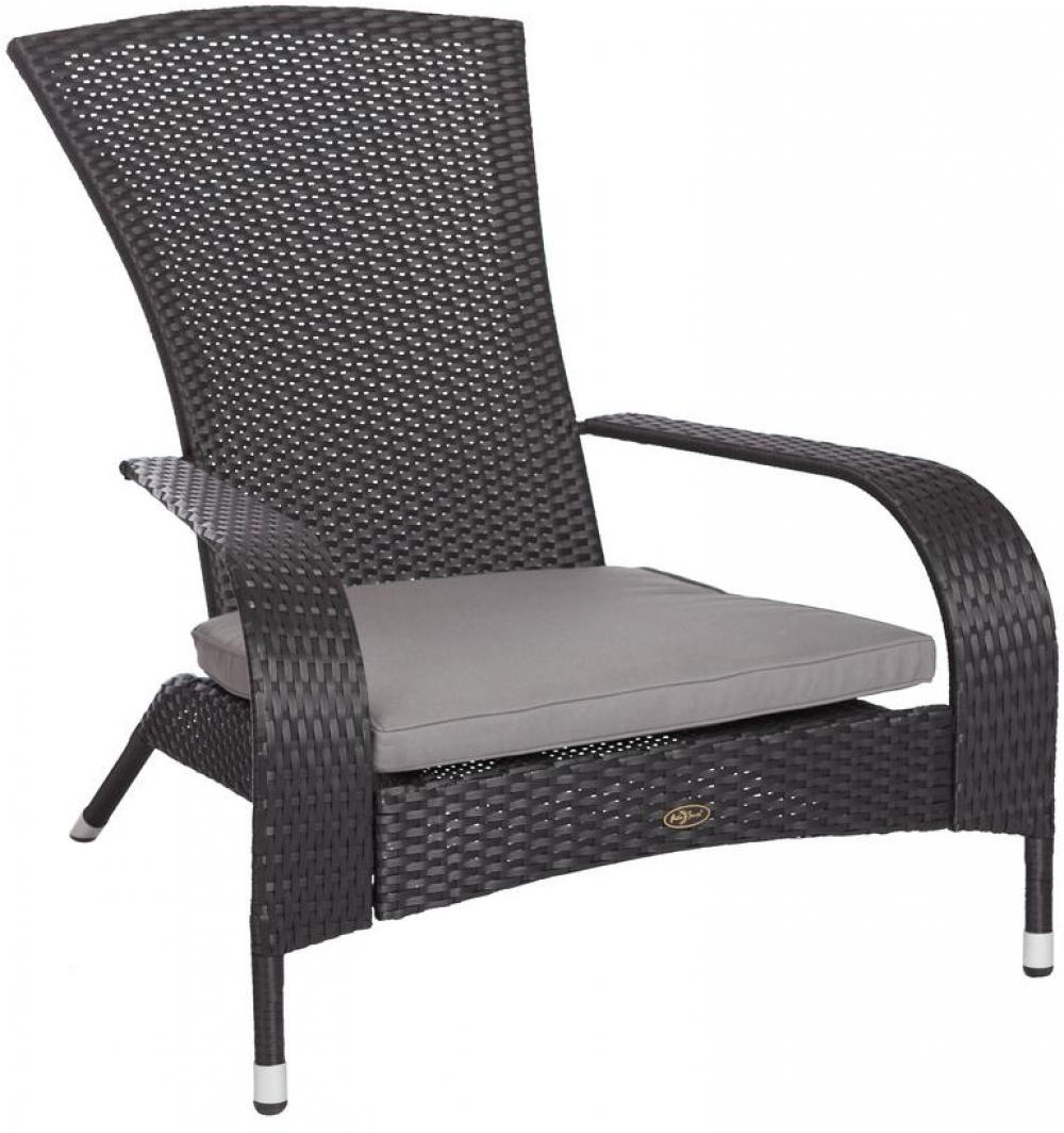 Description This New Black Coconino Wicker Chair Is Constructed Of All Weather
