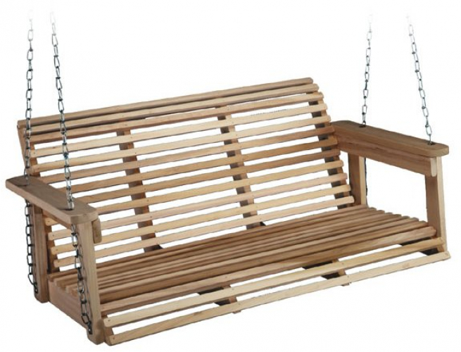 Magnificent Details About Front Porch Swing Set Outdoor Rustic Wooden Bench Wood Patio Chair 4 Foot Deck Machost Co Dining Chair Design Ideas Machostcouk