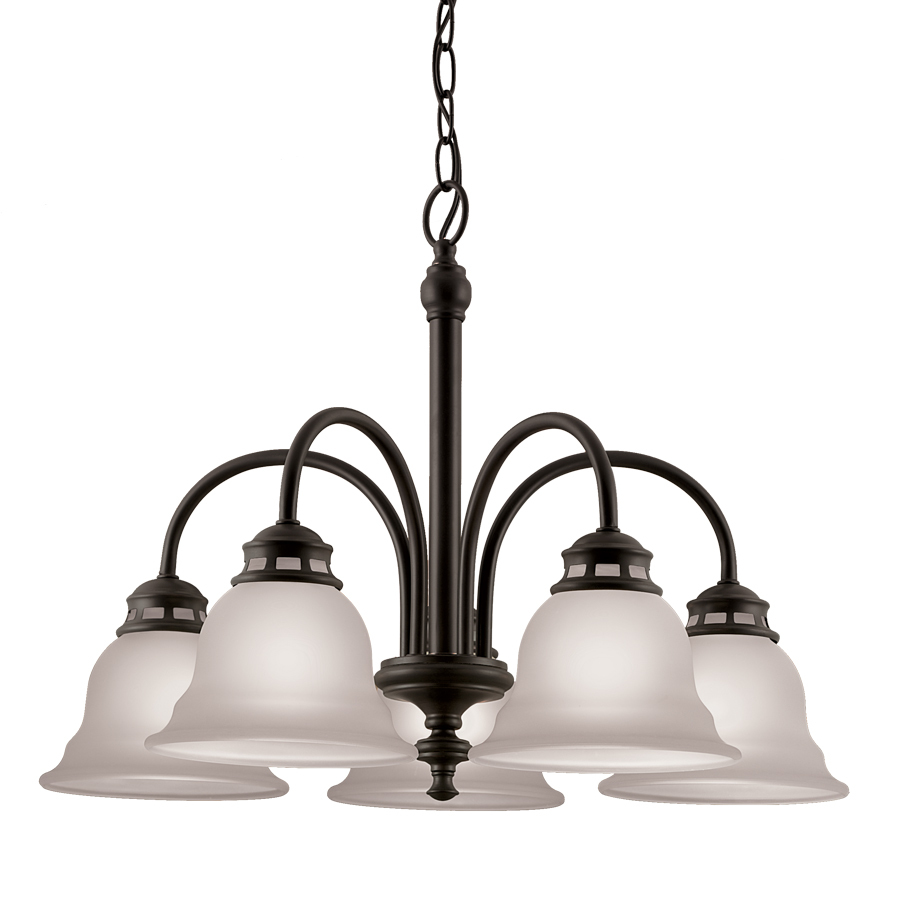 Details About 5 Light Ceiling Chandelier Dark Oil Rubbed Bronze Lighting Fixture Frosted Gl