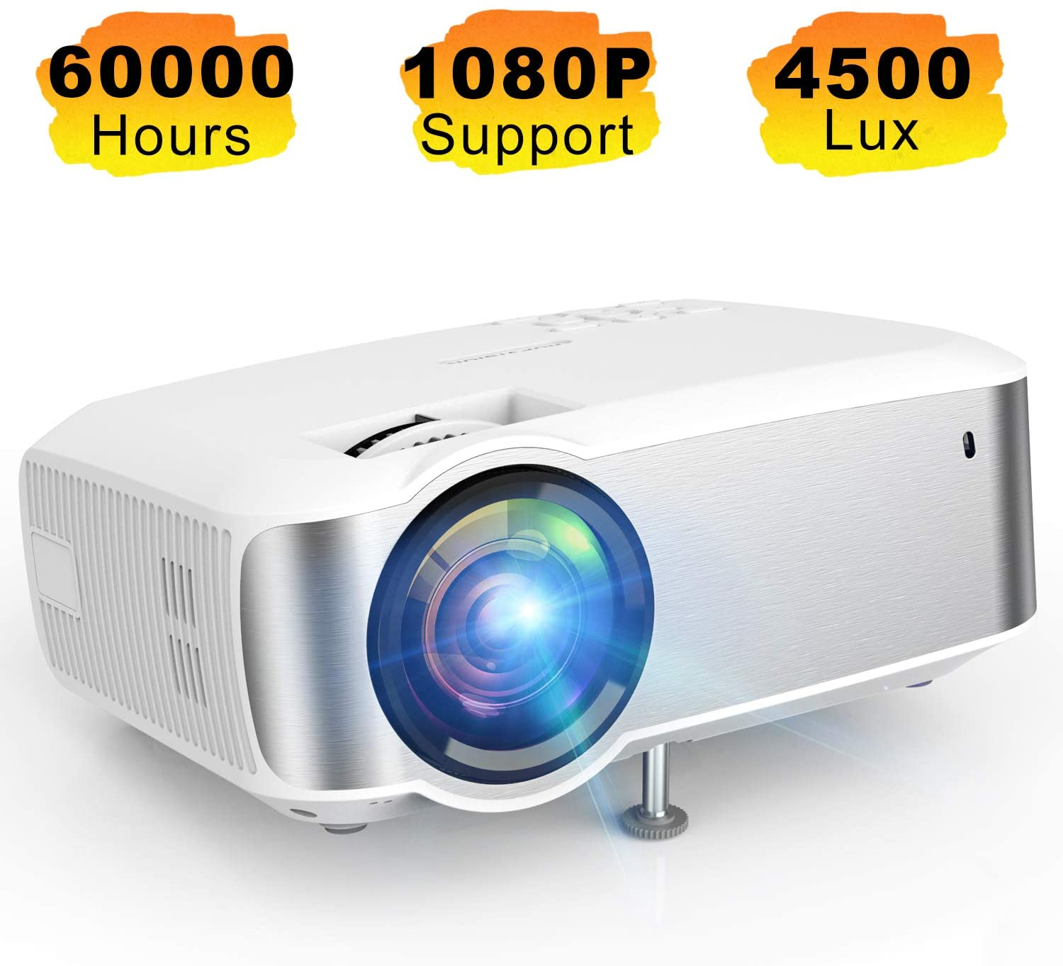 Projector Topvision 1080p Supported Video Projector With 4500l 60 000 Hrs For Ebay