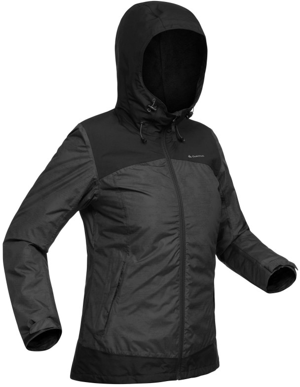 100% high quality outlet for sale new & pre-owned designer Details about QUECHUA SH100 X-Warm Womens Waterproof Jacket - Black S