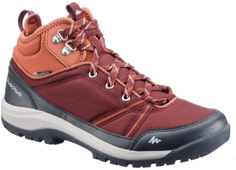 25f19347880 Details about QUECHUA Womens NH150 Mid Protect Country Walking Boots -  Burgundy UK7 EU41