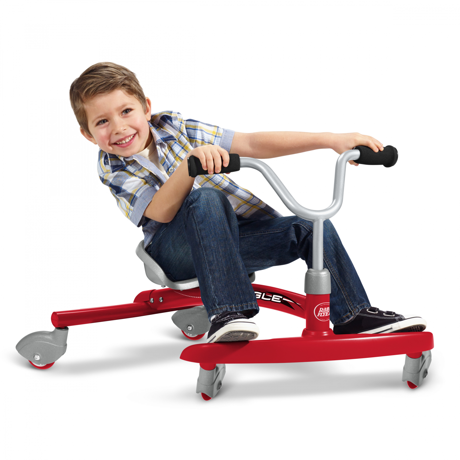 thumbnail 25 - Radio-Flyer-Ziggle-Caster-Ride-on-For-Kids-360-Degree-Spins-Red-Pink-Boys-Girls