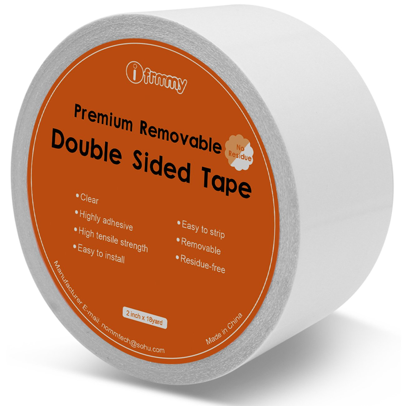 XFasten Double Sided Tape Carpet Removable 2 Inches x 20 Yards