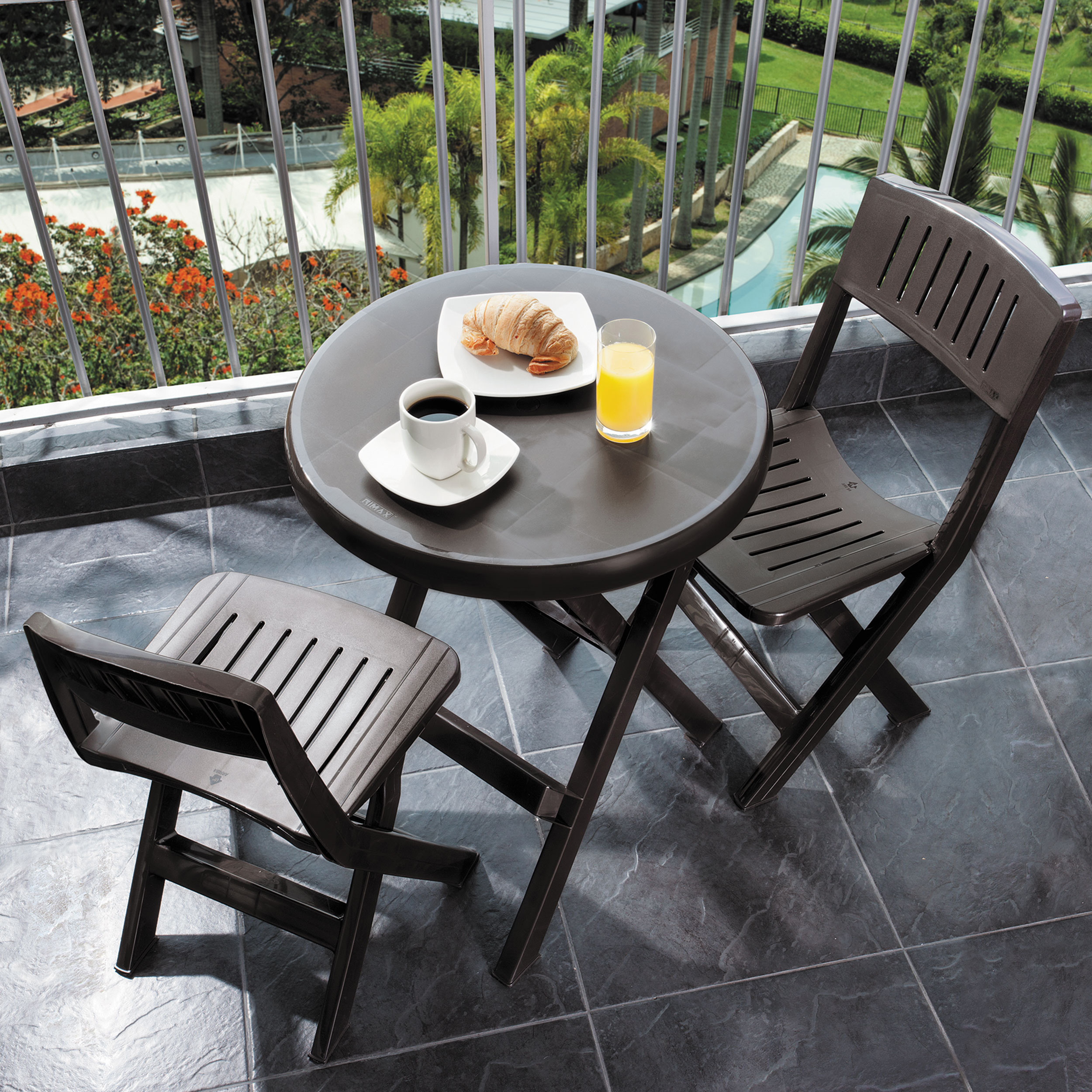 Details About Casual Brown Folding Bistro Set Portable Patio Deck Furniture Outdoor