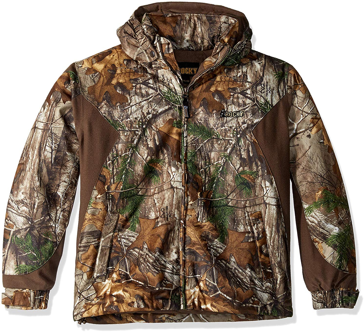 3aaa4d87b58f2 Rocky Junior Prohunter Waterproof Insulated Hooded Jacket, Realtree Extra  Camouflage, X-Large
