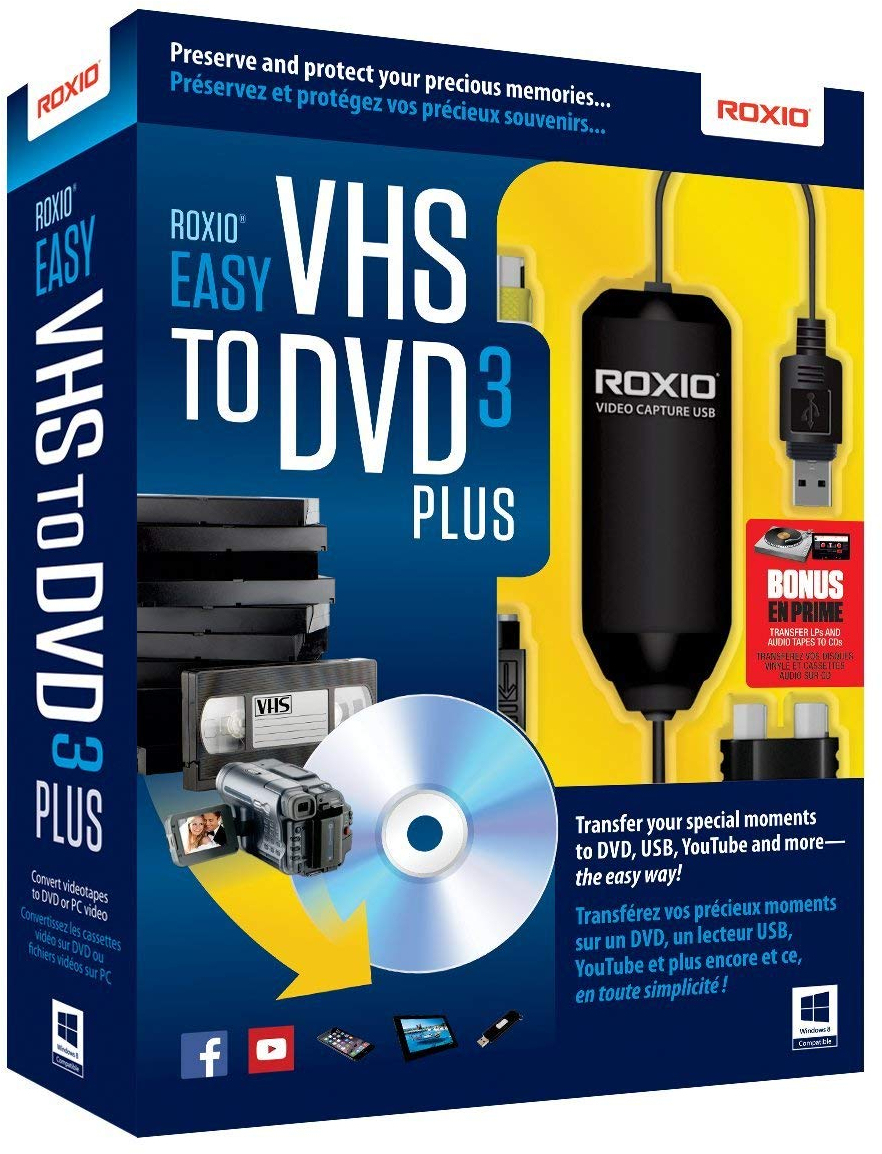 Details about Roxio Easy VHS To DVD 3 Plus Video Converter For PC
