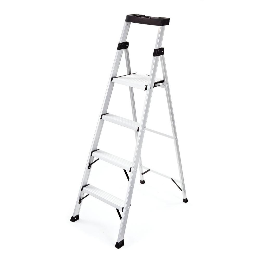 Awesome Details About Rubbermaid Step Stool 4 Step Aluminum Foldable 250 Lb Load Capacity Type I Duty Machost Co Dining Chair Design Ideas Machostcouk