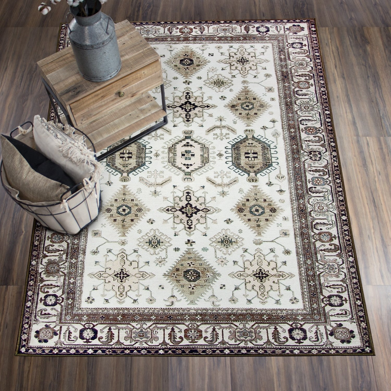 Details About Ruggable Washable Stain Resistant Pet Rectangle Rug Indoor Outdoor Taupe 5 X 7