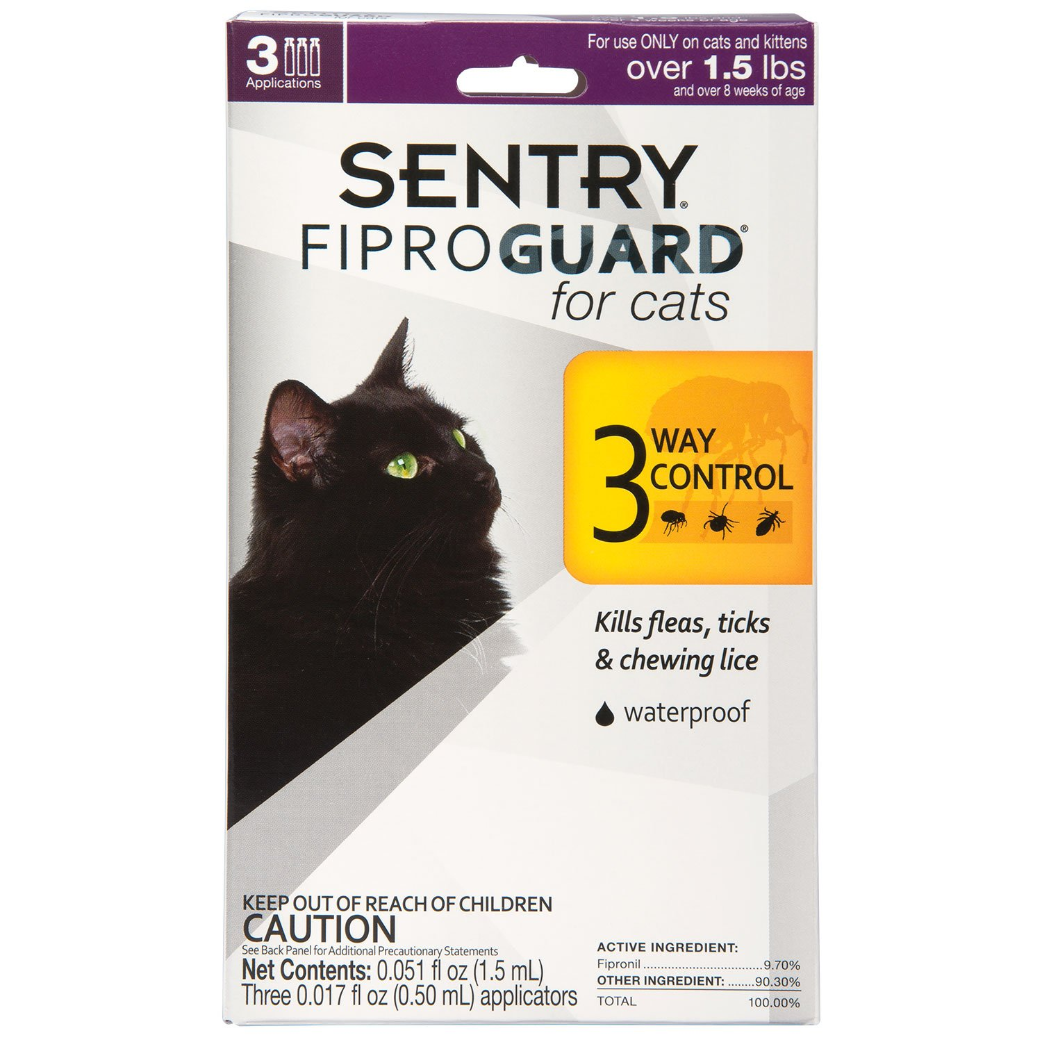 Kills Control Supply Store//Shop Pet Sentry PurrScriptions Plus Flea and Tick Squeeze-On Cat Over 5-Pound 6 Dose Protect