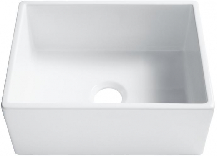 Details About Sinkology Farmhouse A Front Fireclay 24 In Single Bowl Kitchen Sink White
