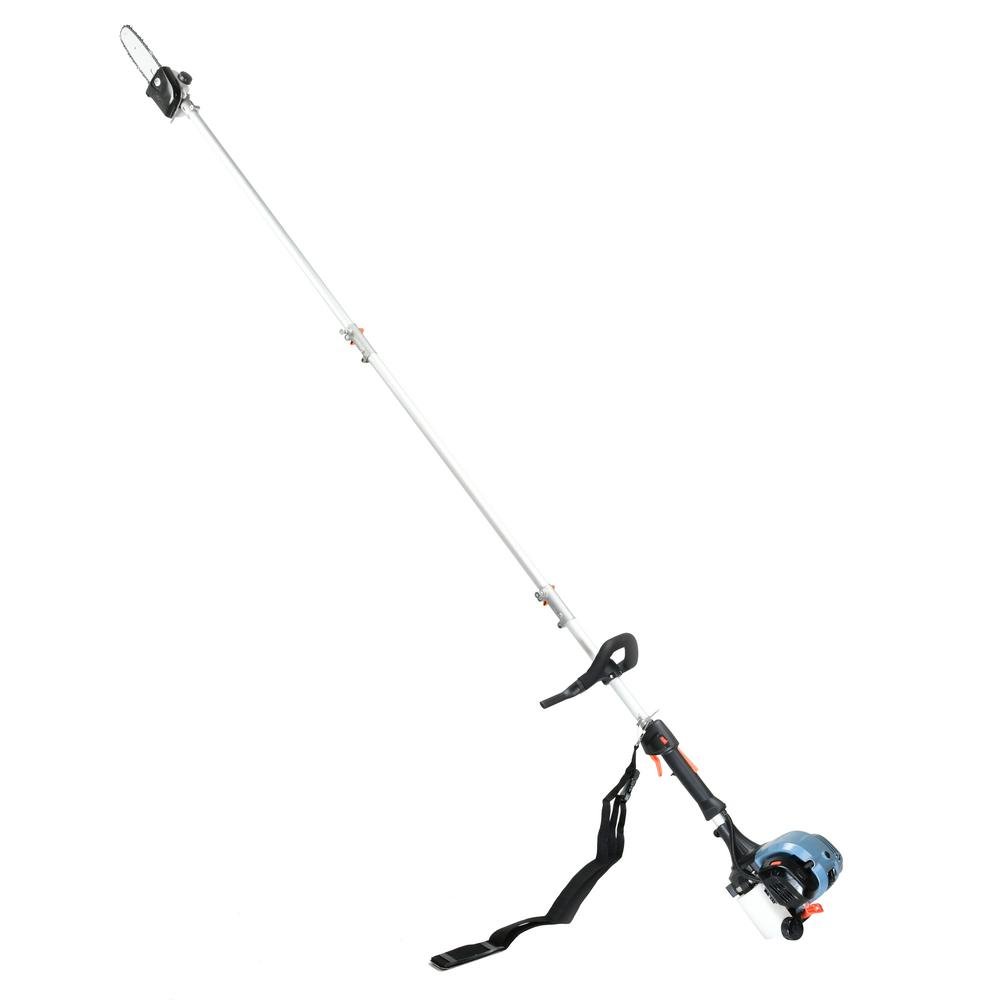 """8/"""" Add On Pole Saw Attachment w// Extension Pole Auto Oiler Up To 12 Ft Reach New"""