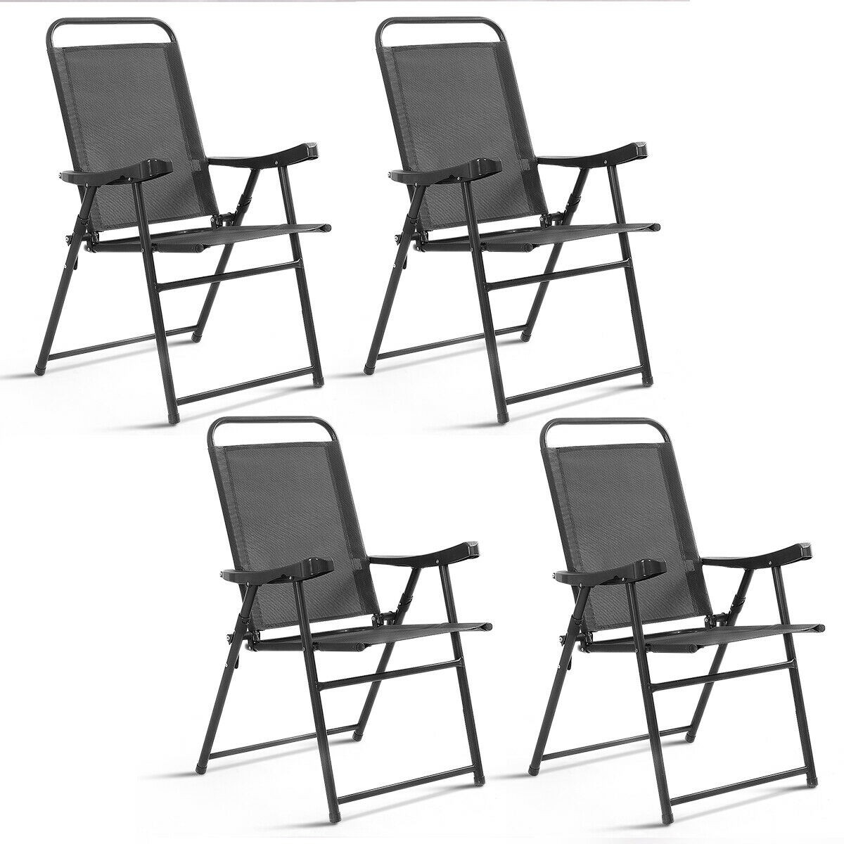 Awesome Details About Durable Outdoor Folding Chairs Patio Leisure Time Foldable Frame Back Rest 4 Pcs Machost Co Dining Chair Design Ideas Machostcouk