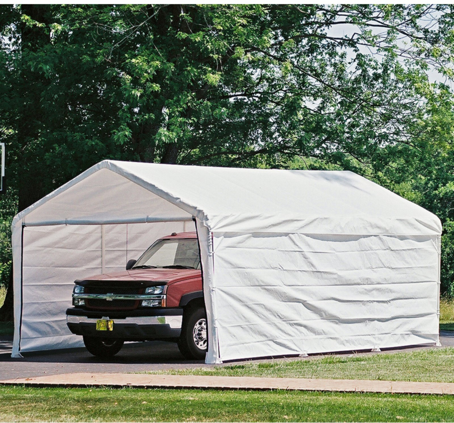 Canopy Enclosure Kit 12x20 Car Port Cover Portable Shelter ...
