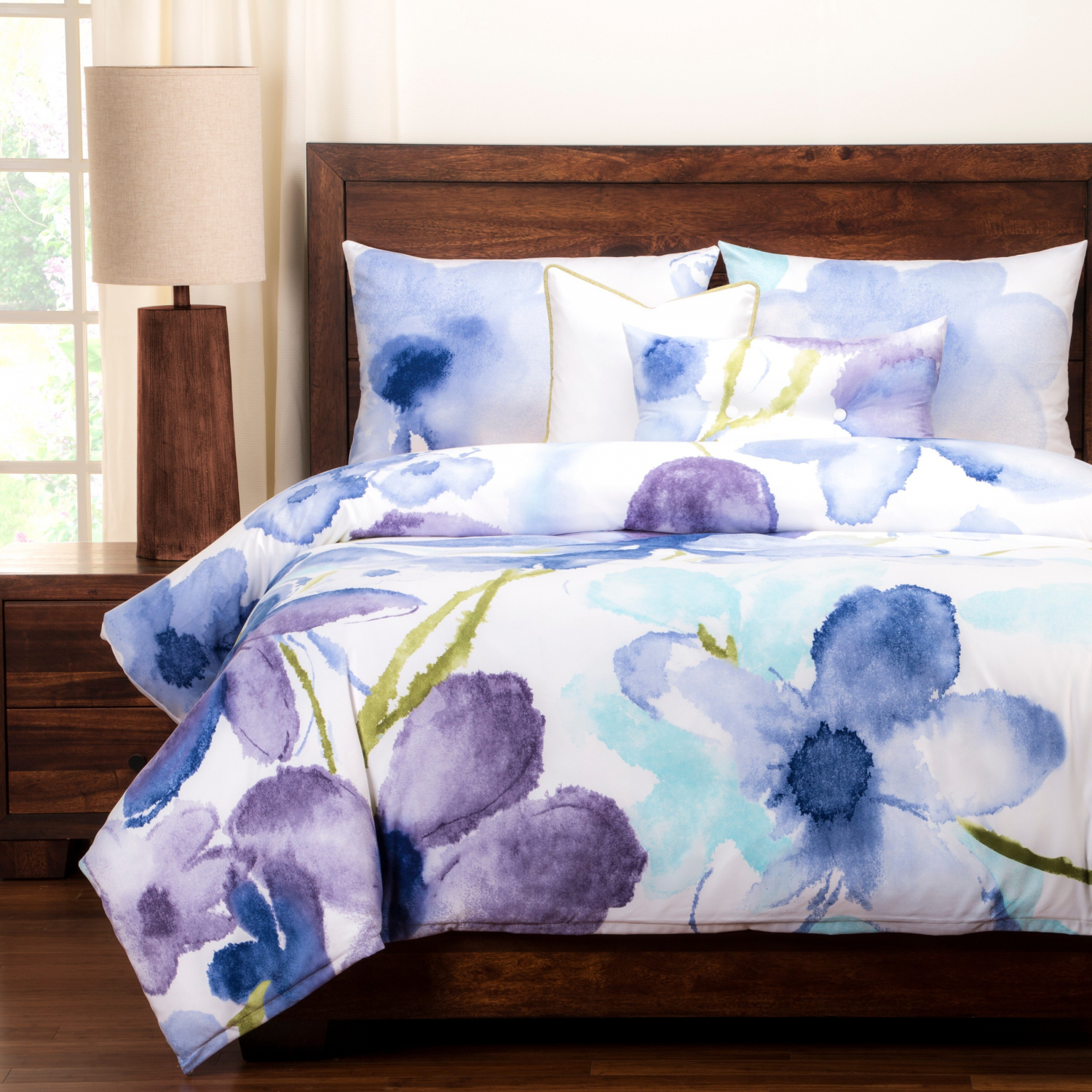 Bed Duvet Set Fl Bedding 6 Piece