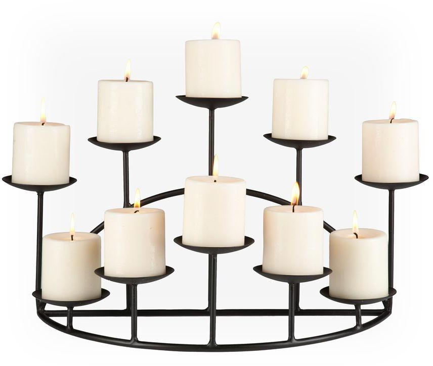 Awesome Details About Pillar Candelabra 10 Candle Holder Free Standing Fireplace Stand Table Hearth Interior Design Ideas Gentotryabchikinfo