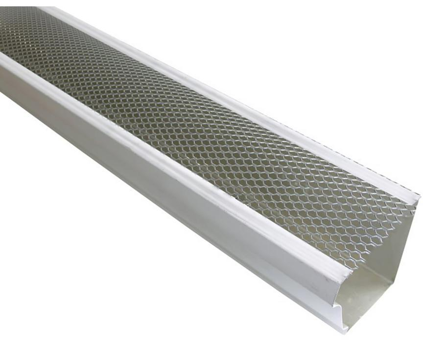 Gutter Guard Lock On 5 In X 4 Ft White Armour Screen