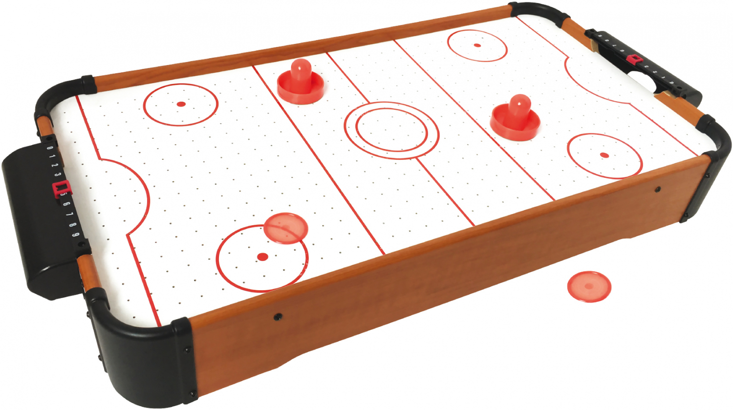 Details about 27 Inch Table Top Air Hockey Compact Portable Fun Game  Playset w/ Slide Scorers