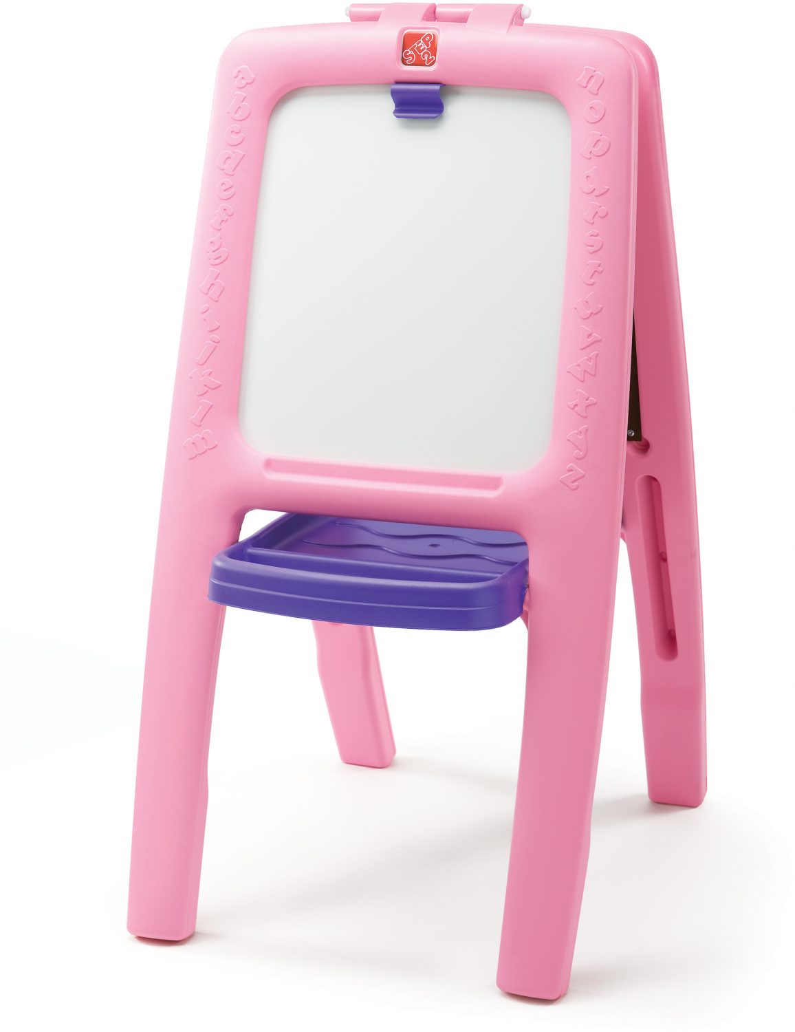 Details About Step2 Easel For Two Pink Chalk And White Board With 77 Piece Art Kit