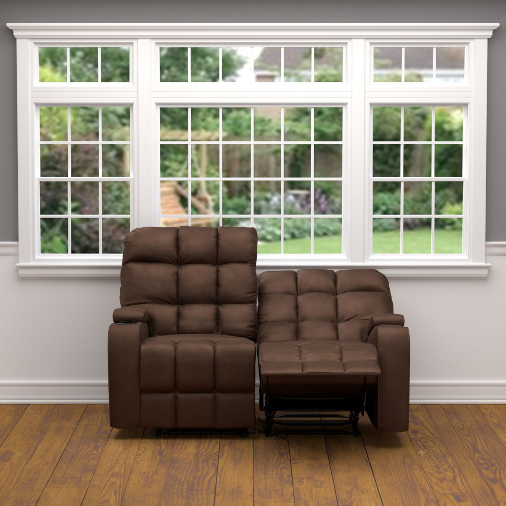 Surprising Details About Brown 2 Seat Reclining Loveseat Sofa W Storage Cup Holders Tufted Cushioned Beatyapartments Chair Design Images Beatyapartmentscom