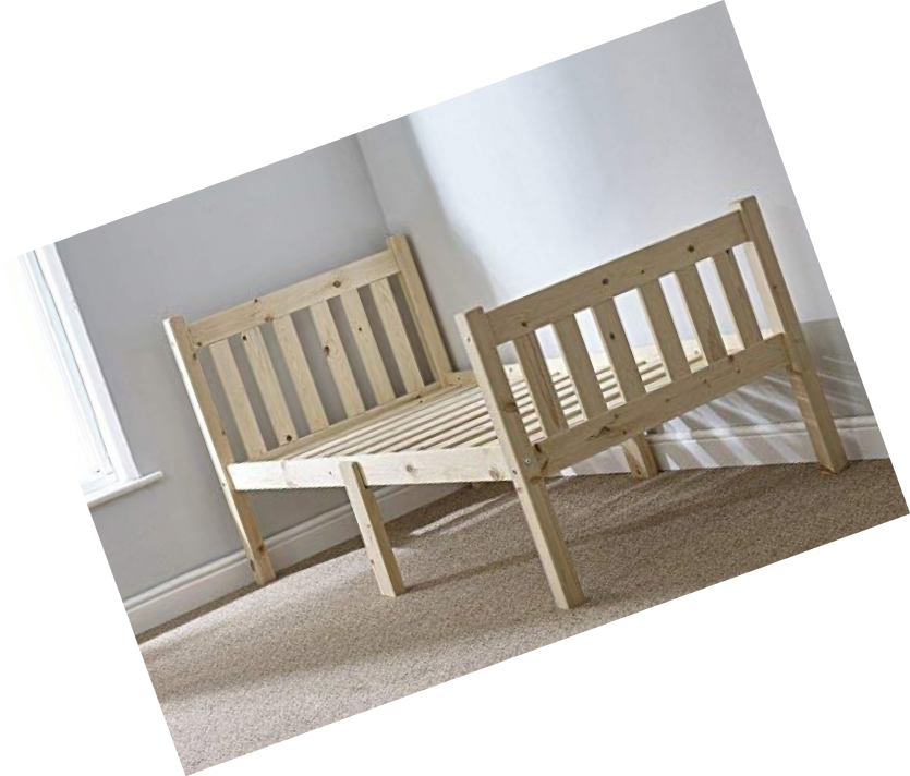 Small Single Bed Pine 2ft 6 75cm Single Bed Wooden Frame Can be used by Adults
