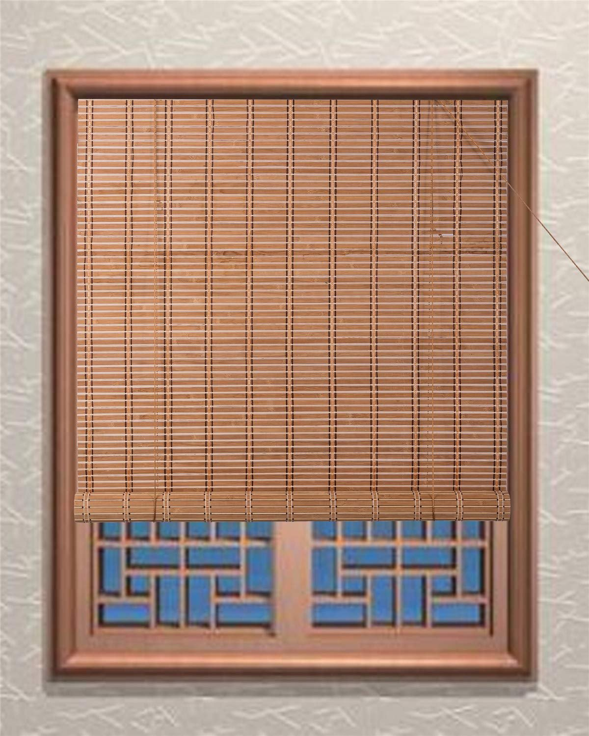 Indoor Bamboo Roll Up Blinds Home Decor Outdoor Patio Shade Multiple Sizes Ebay
