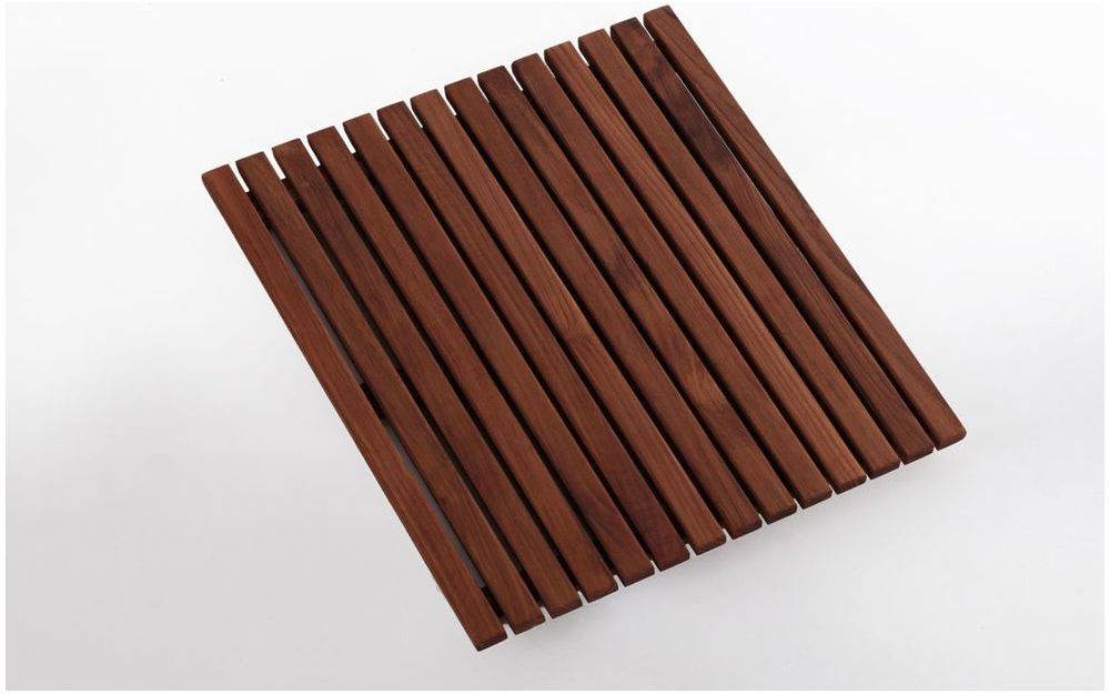 Solid Teak Wood Oiled Shower Bath Spa Mat ~ Smooth Non