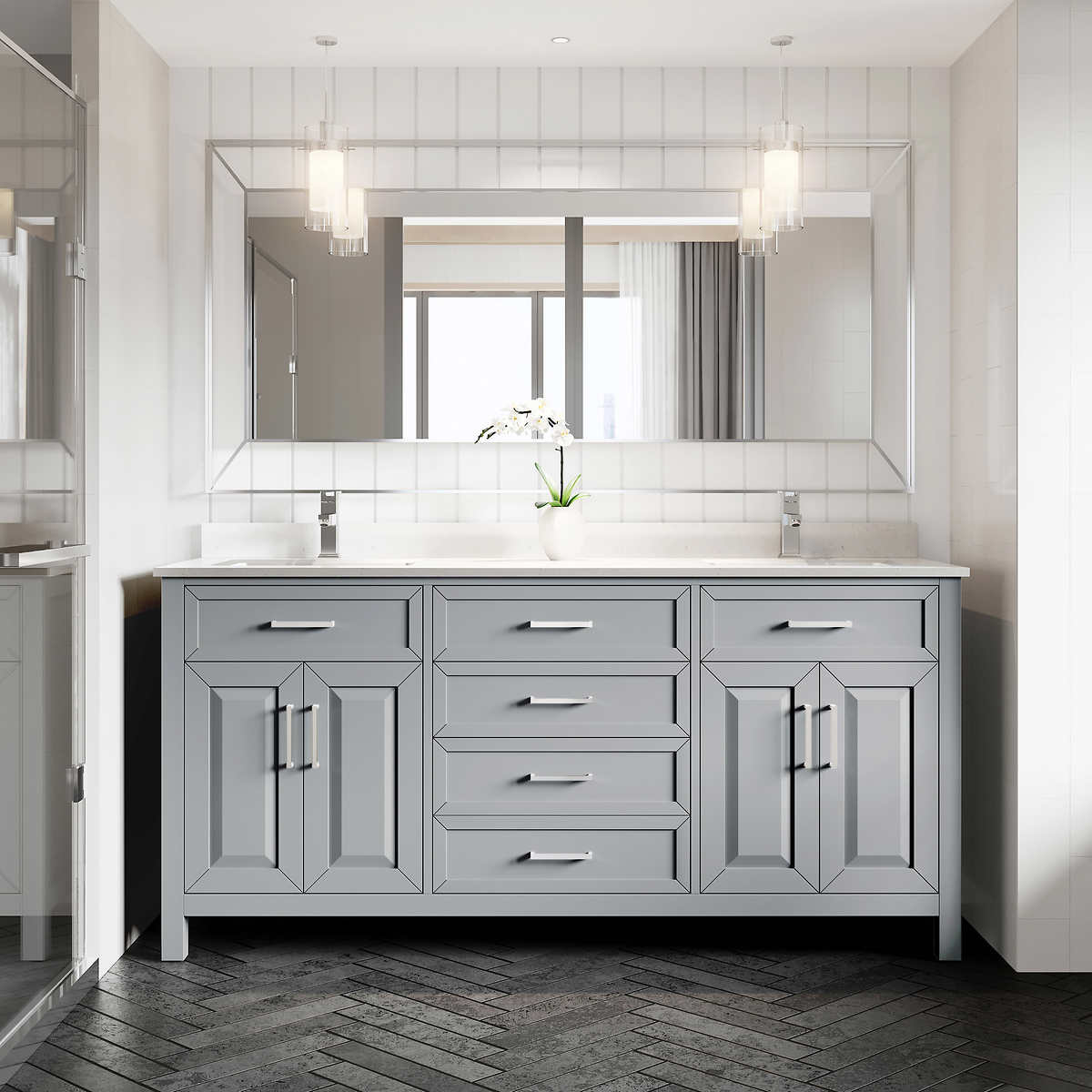Bathroom Vanity 72-Inch Scratch-Resistant Finish By Studio ...