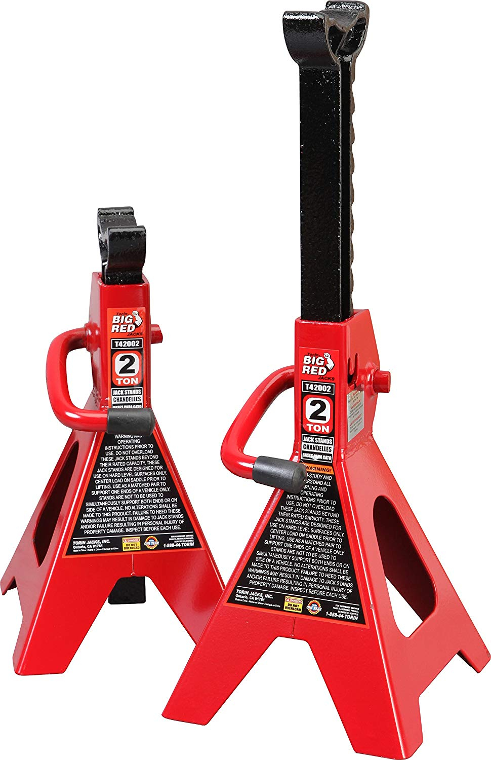 Details about CAR JACK STANDS 2 Ton Vehicle Support 17 High Lift Garage  Auto Tool Set 2 Pack