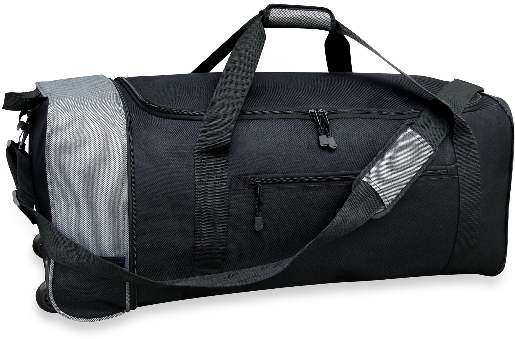 5dbcd8743869 Details about Travelers Club 32-Inch Compactable Rolling Duffle with Side  Pockets