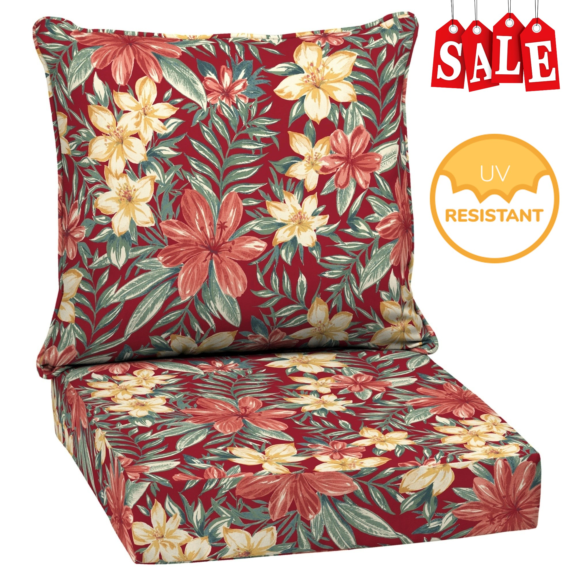 Deep Seat Cushions Set Patio Chair Pad