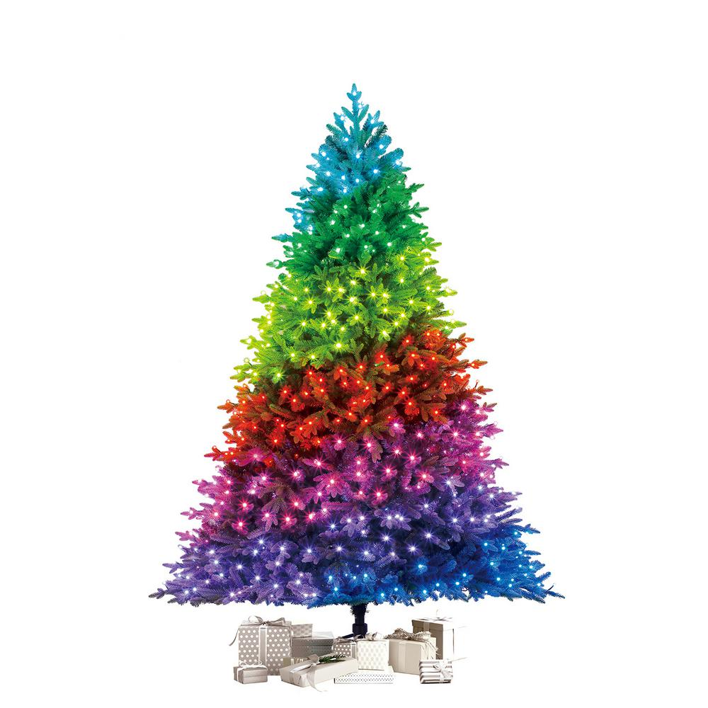 Artificial Christmas Tree 7.5 ft. Pre-Lit LED Swiss ...