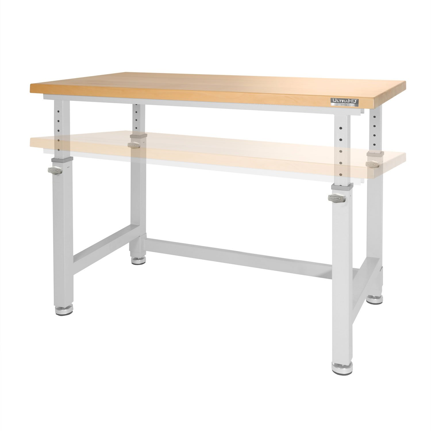 Sensational Details About Seville Classics 48 Ultrahd Adjustable Height Heavy Duty Wood Top Workbench Ibusinesslaw Wood Chair Design Ideas Ibusinesslaworg