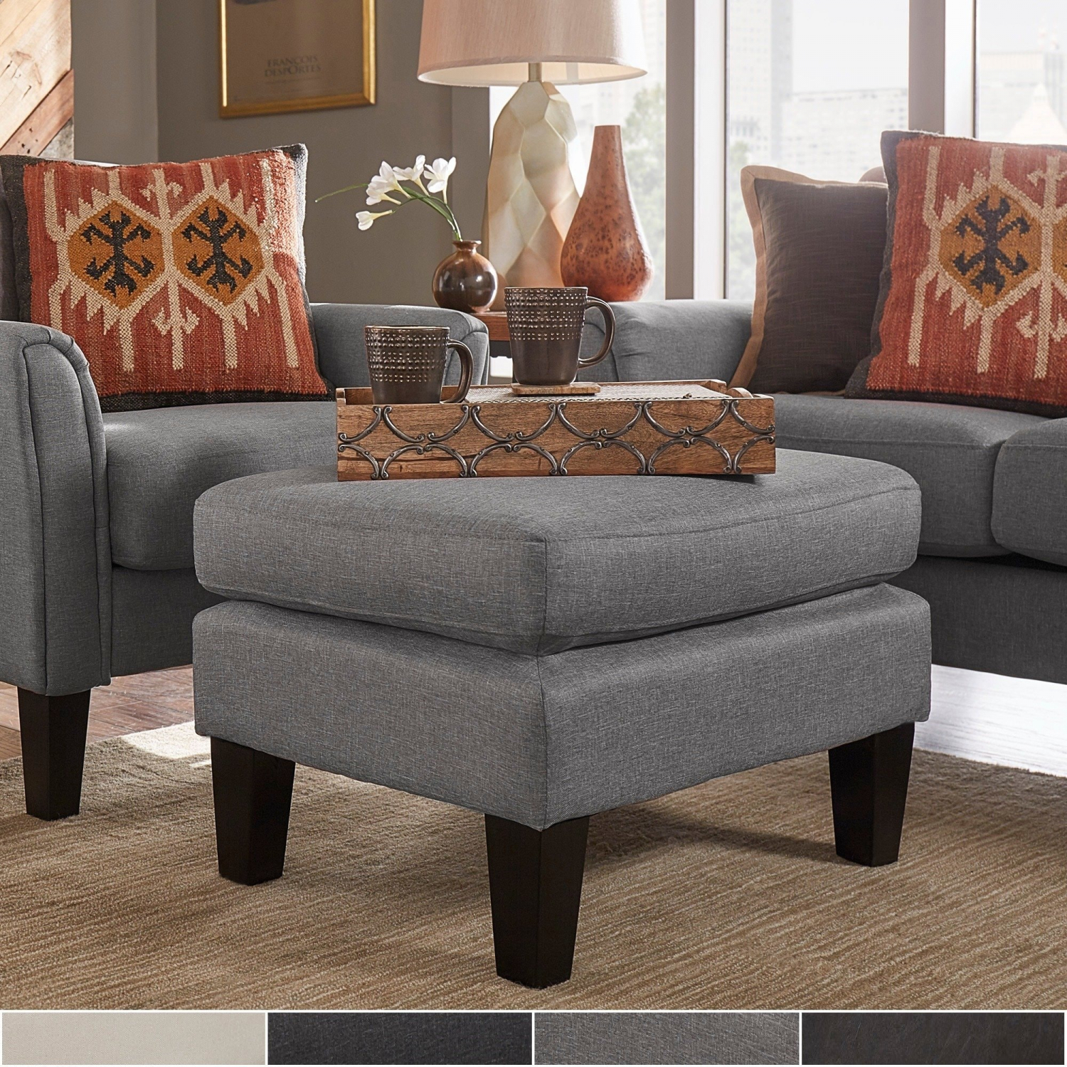 Details About Uptown Modern Ottoman By Inspire Q Classic