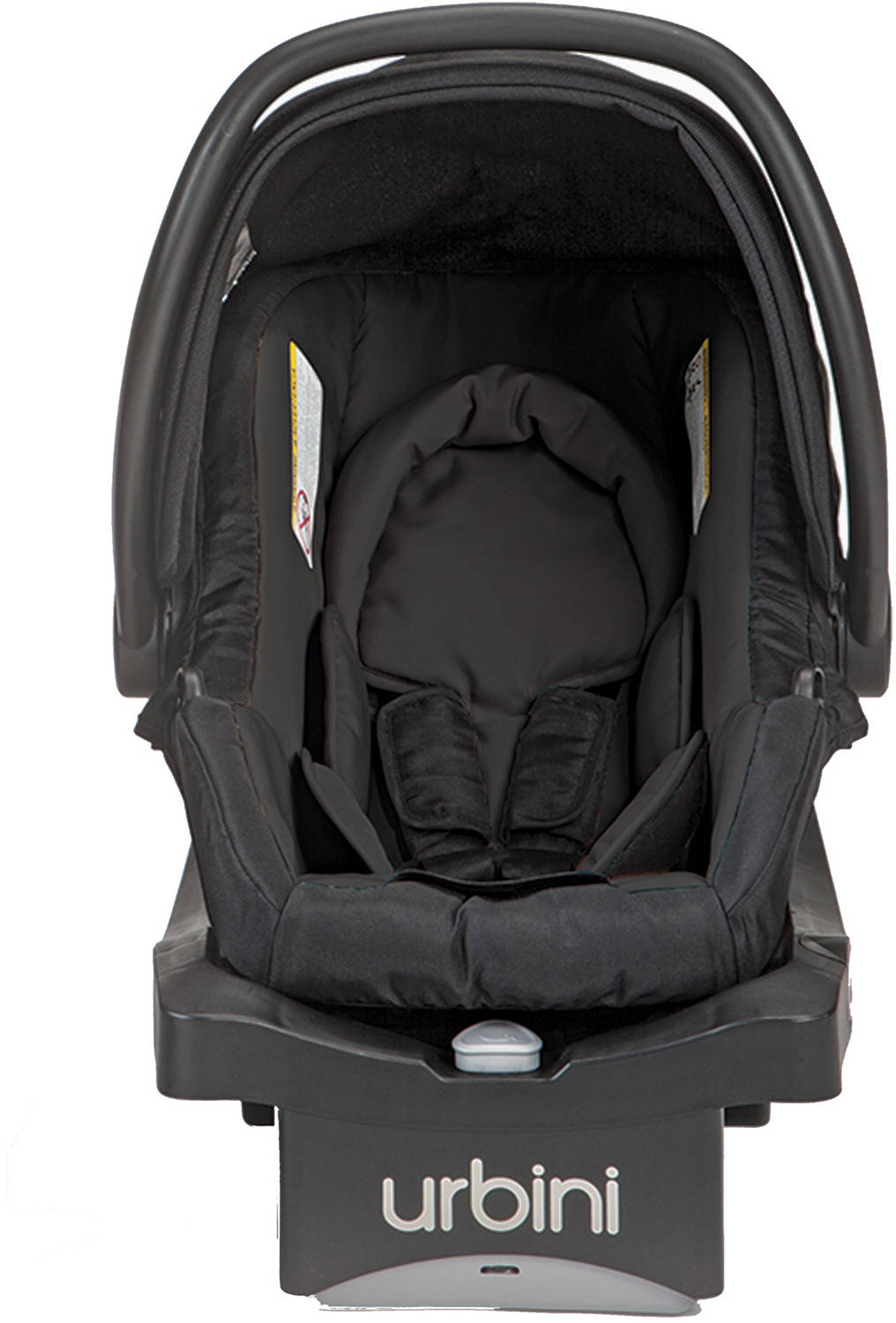 Urbini Sonti Infant Car Seat Black Lightweight Contoured Body Support Removable