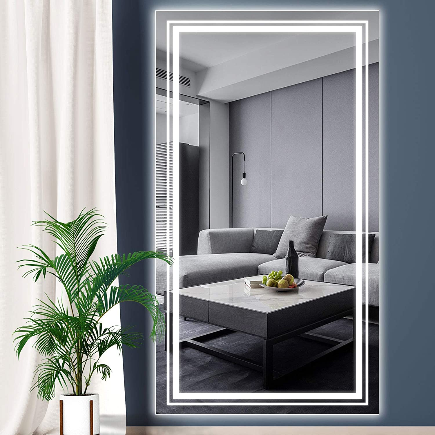 Wihtu Led Full Length Mirror Bedroom Body Mirror With Lights 59 31 Inch Long Ebay