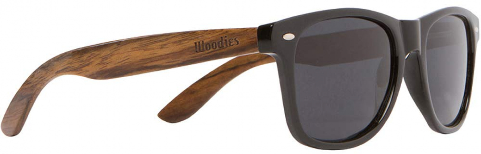 b49742cf56 WOODIES Walnut Wood Sunglasses with Black Polarized Lenses for Men ...